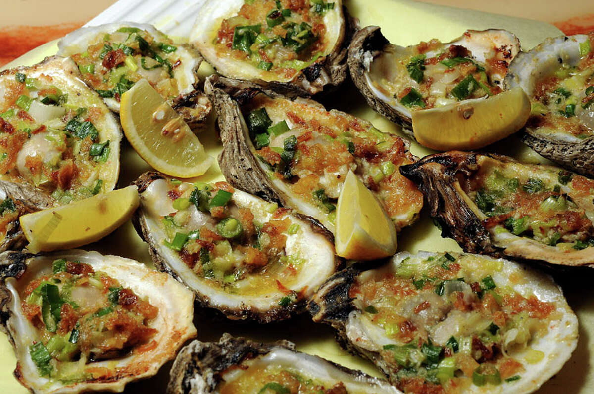 The Grilled oysters at Cajun Kitchen.