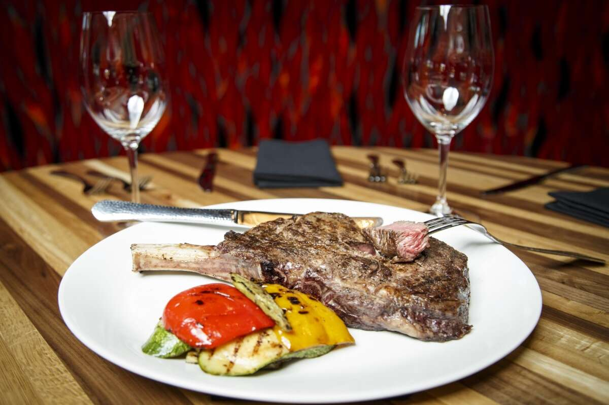 Another view of the Cowboy Cut Bone-In Ribeye Steak at La Casa del Caballo.
