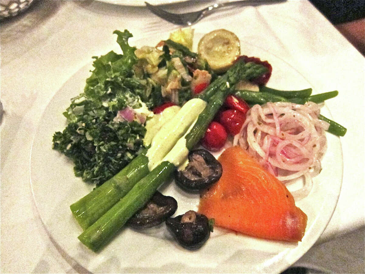 A salad plate from the cold buffet.
