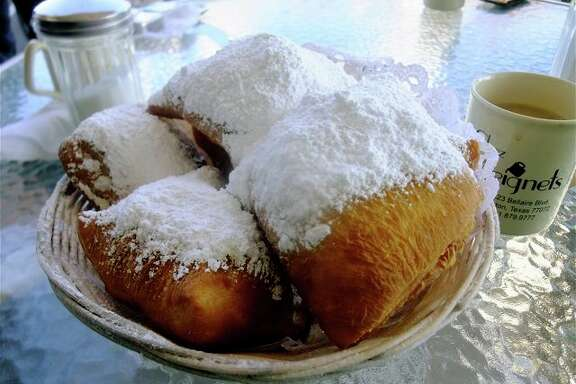 A double order of beignets at Chez Beignets.