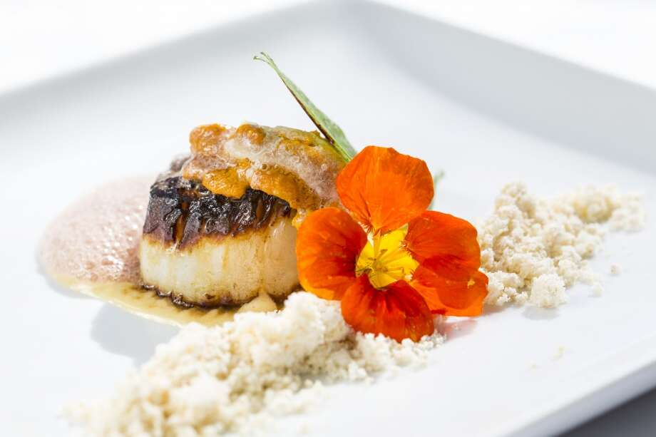 U8 Diver Scallop at Cinq. Photo: Michael Paulsen, Houston Chronicle