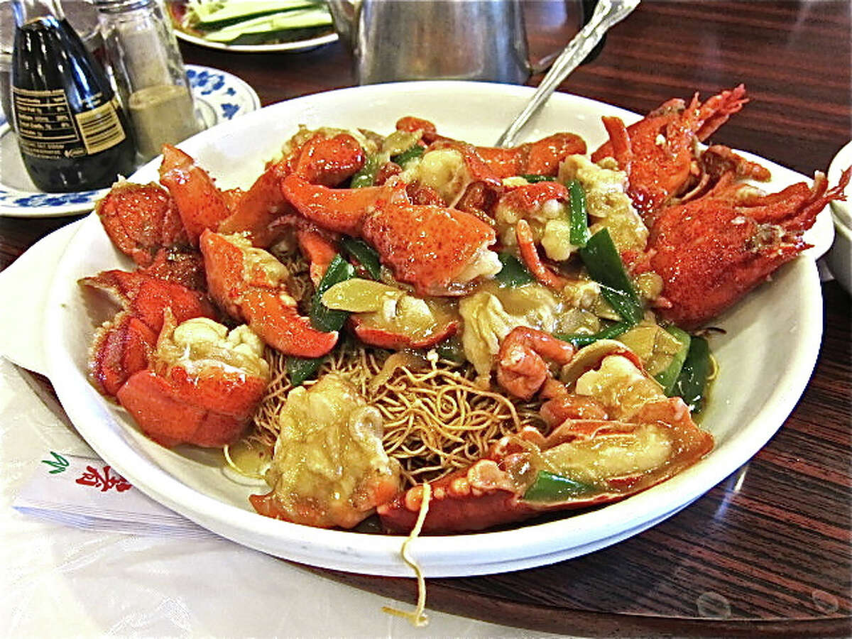 Lobster with ginger and scallion at Confucius Seafood
