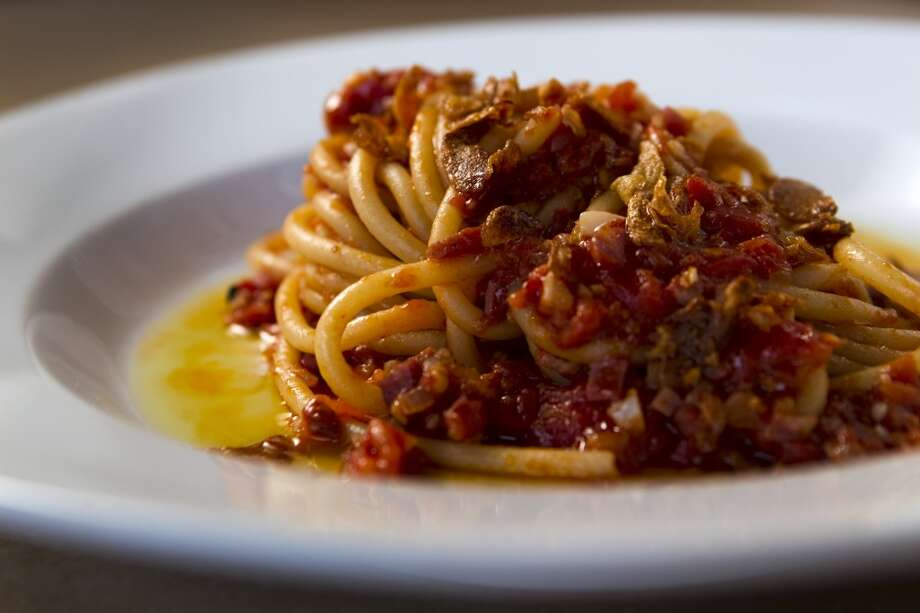 A plate of Bucatini alla Amatriciana at Coppa. Photo: Brett Coomer, Houston Chronicle
