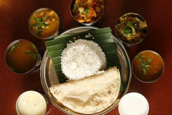 The daily thali from Shri Balaji Bhavan.