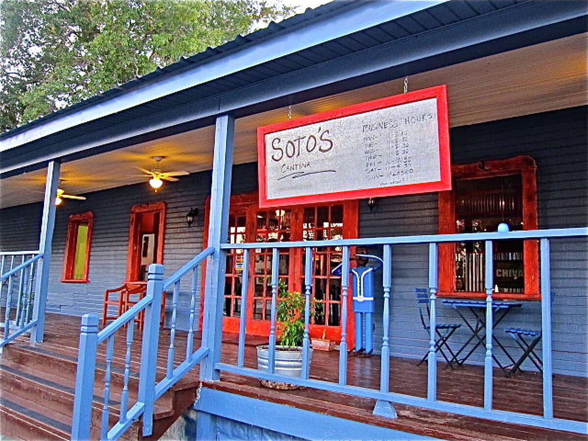 Soto's Cantina features an appealing dining porch.