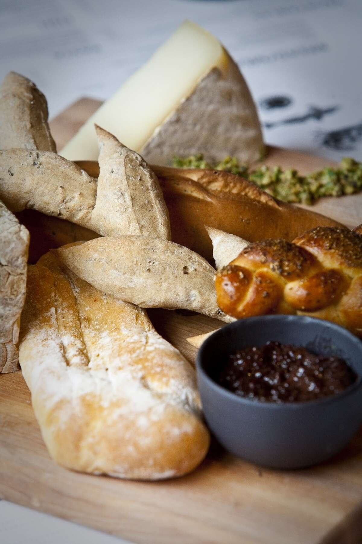 Provisions' various breads, with its meat and cheese pairings.