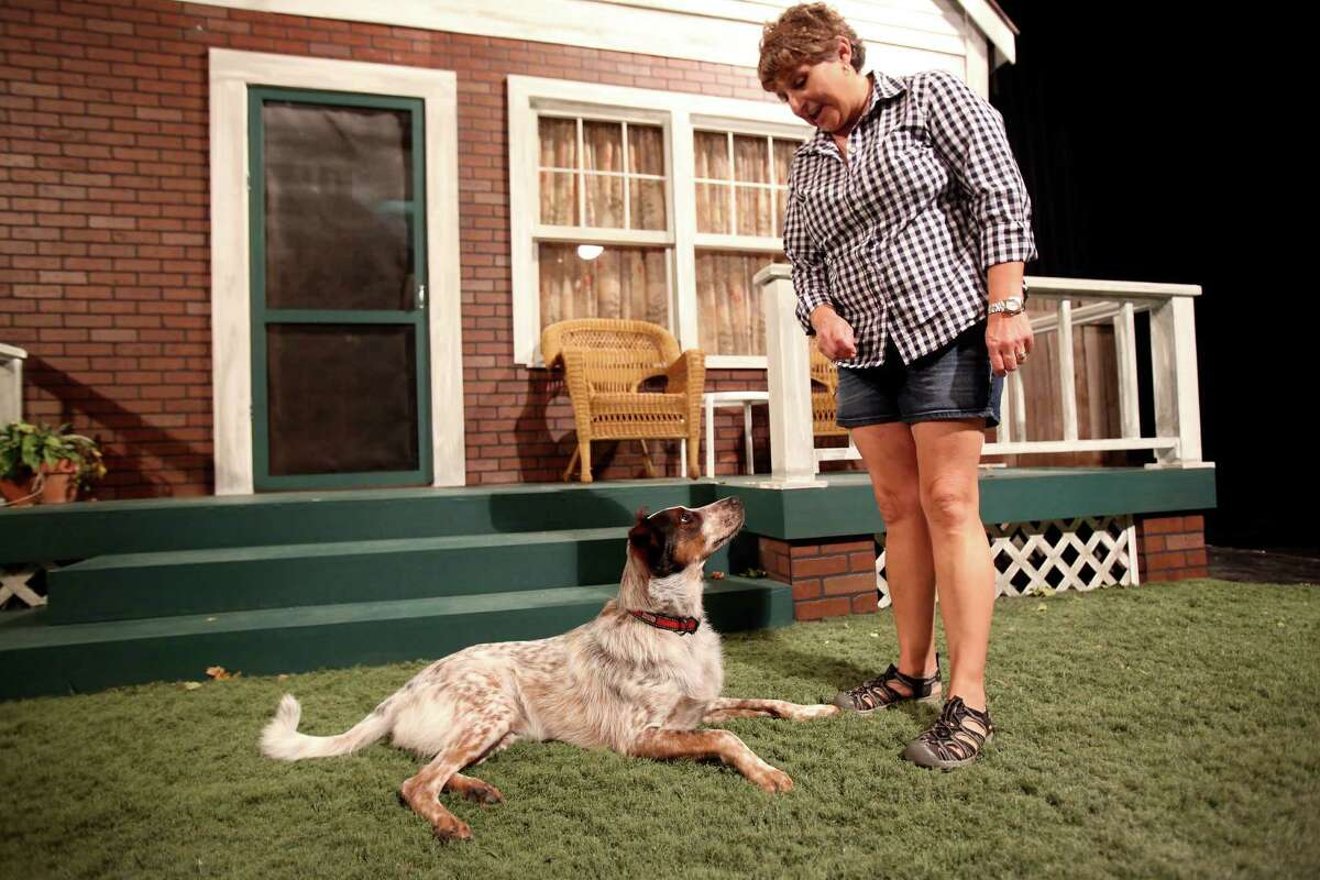 Felice Garcia is the technical director for Jump-Start Performance Co. Garcia brings her dog Digger, with her to work occasionally.