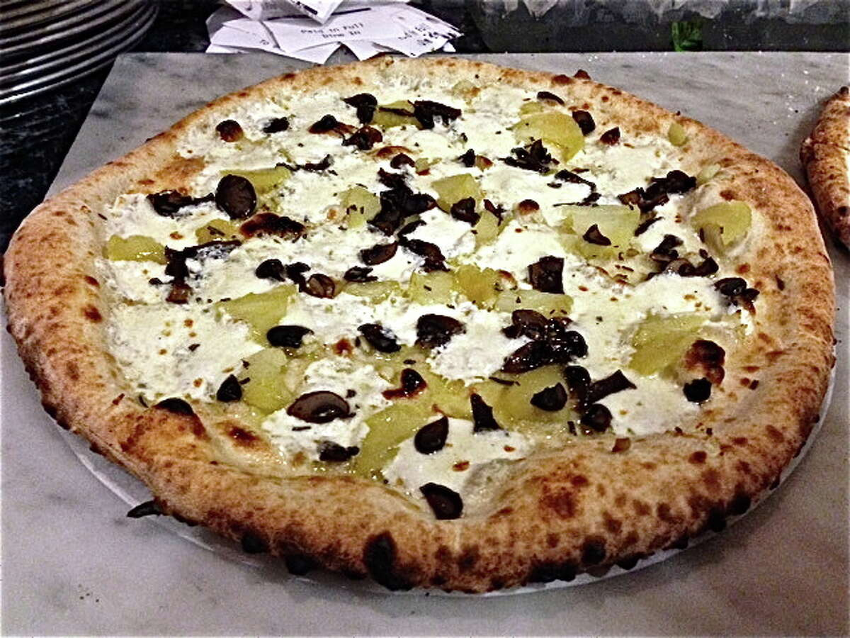 One of the Neapolitan-style pizzas at Pizaro's Pizza.