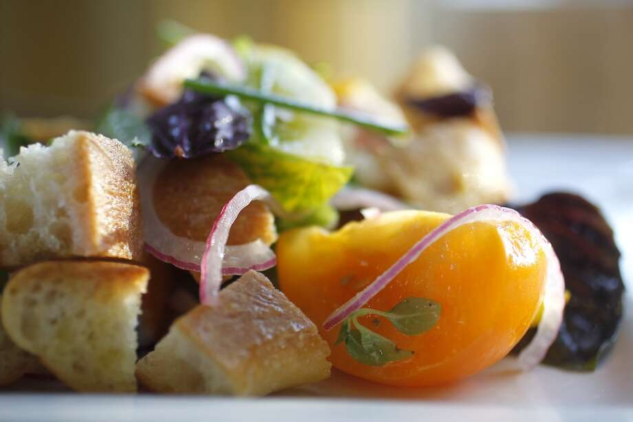 The Panzanella Salad at Plonk Photo: Karen Warren, Houston Chronicle