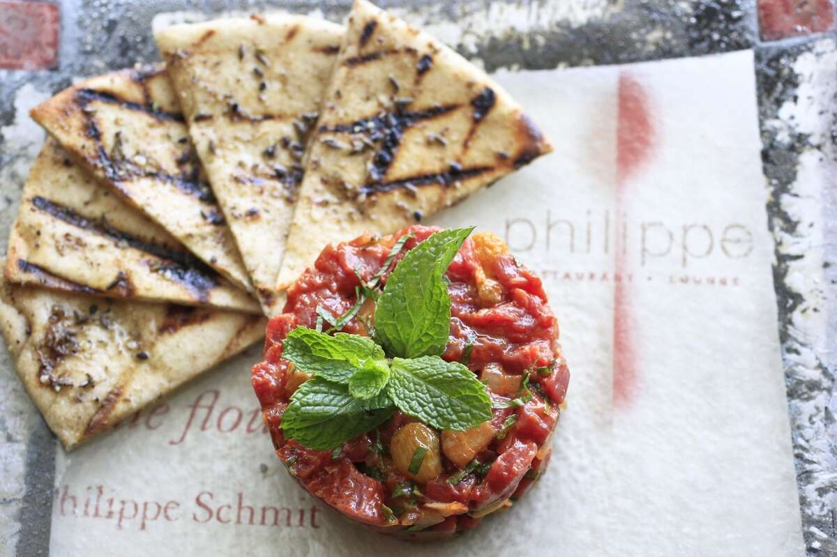 The Moroccan Tartare at Philippe Restaurant and Lounge.