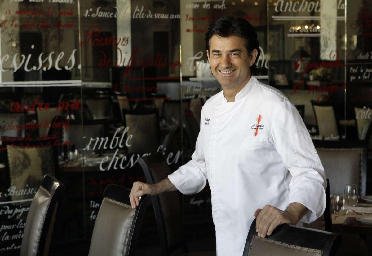 Chef Philippe Schmit poses in his restaurant Philippe.