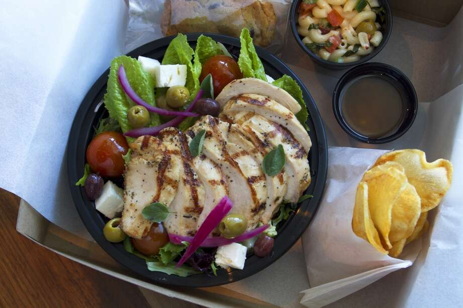 Chicken salad lunch box from Philippe Restaurant & Lounge. Photo: Karl Heim