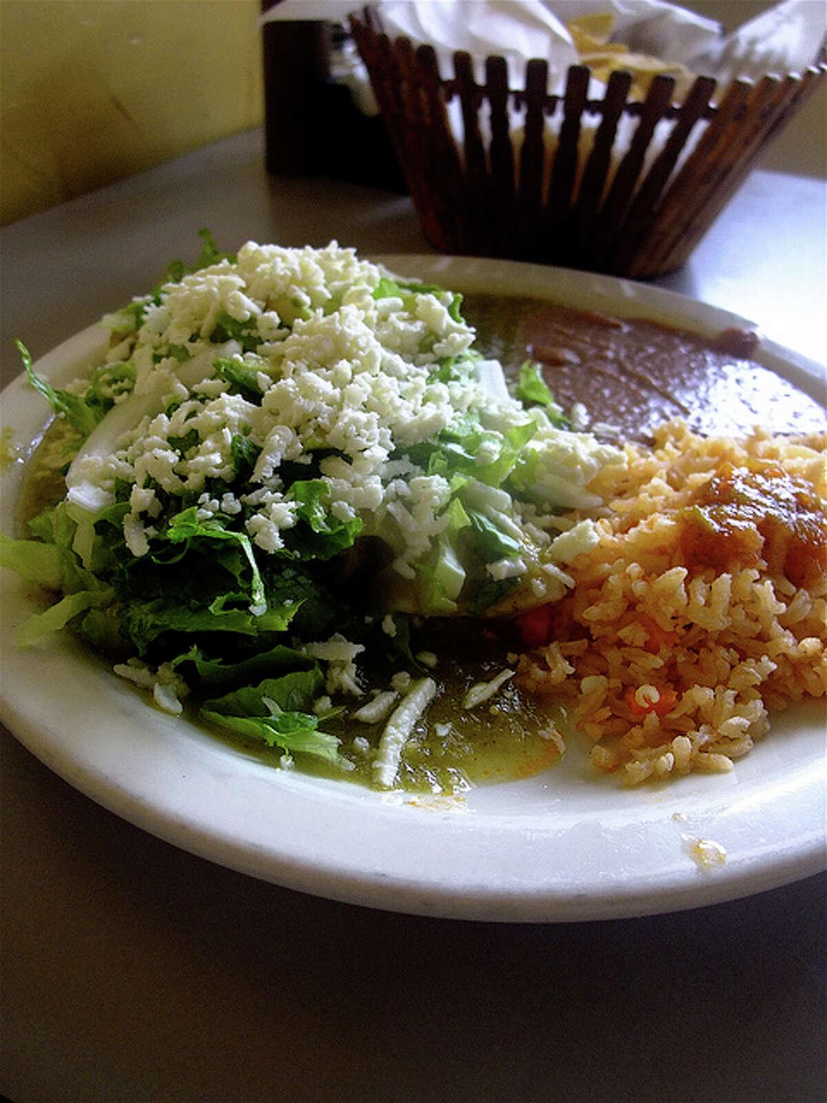 Enchiladas verdes at La Guadalupana