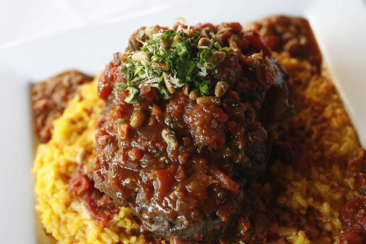 Mezzanotte Italian restaurant in Cypress features Osso buco