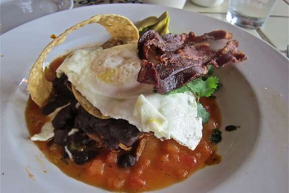 The wild version of huevos rancheros from the brunch menu of Ninfa's on Navigation.