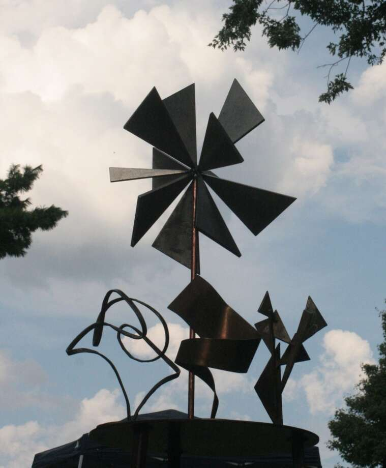 "Joe Sorge steel sculptures, ""Starburst, Wire Me, Flair and Triangles,"" will be featured at the 9th annual Fall Fine Arts Festival in Southbury, Conn., on Saturday, Sept. 7, 2013. Photo: Contributed Photo"