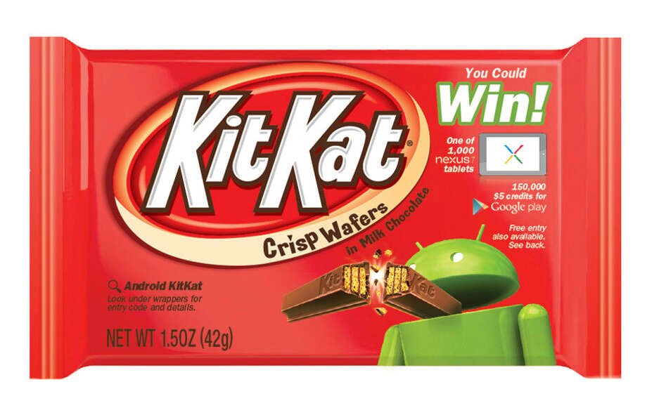 Kit Kats will features Android's mascot in honor of Google naming its new Android operating system after the treat. Photo: The Hershey Co.