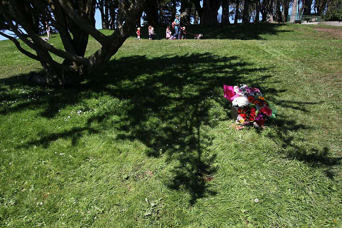 A memorial has been made at Holly Park in San Francisco for a woman who was allegedly killed by a Recreation and Parks vehicle in a hit and run accident on Thursday.