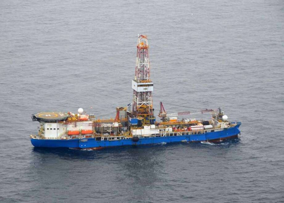 The drillship Noble Discoverer, boring a well in the Chukchi Sea north of Alaska in 2012. (Photo: Jennifer A. Dlouhy / The Houston Chronicle) Photo: Jennifer A. Dlouhy