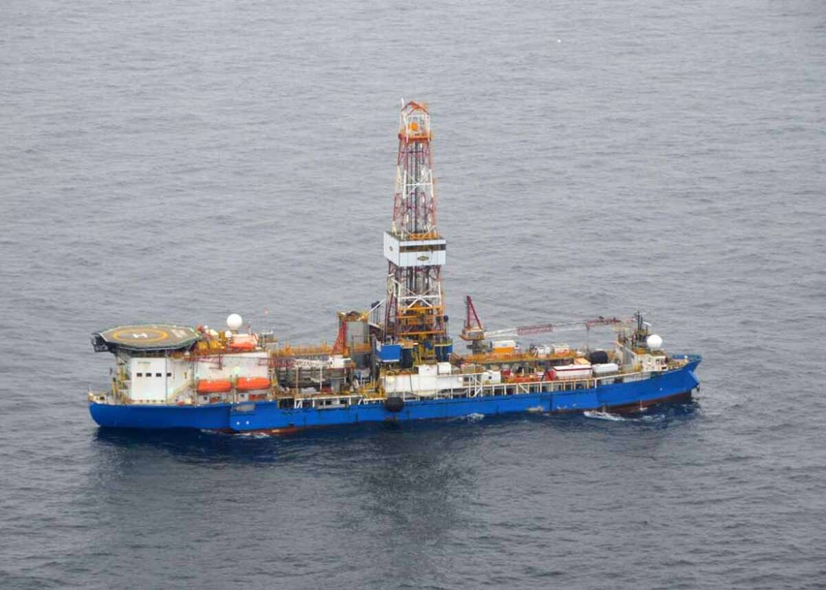The drillship Noble Discoverer, boring a well in the Chukchi Sea north of Alaska in 2012. (Photo: Jennifer A. Dlouhy / The Houston Chronicle)
