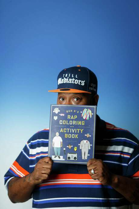 "Bun B lends his name, knowledge and his face to ""Bun B's Rap Coloring and Activity Book,"" drawn by Shea Serrano. Photo: Michael Paulsen, Staff / © 2013 Houston Chronicle"