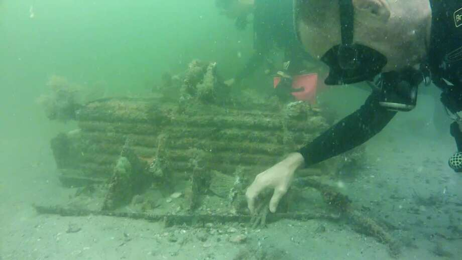 The Kirpach family found parts from World War II plane on their first scuba diving trip off Venice, Fla. (Photo courtesy of Kirpach family)