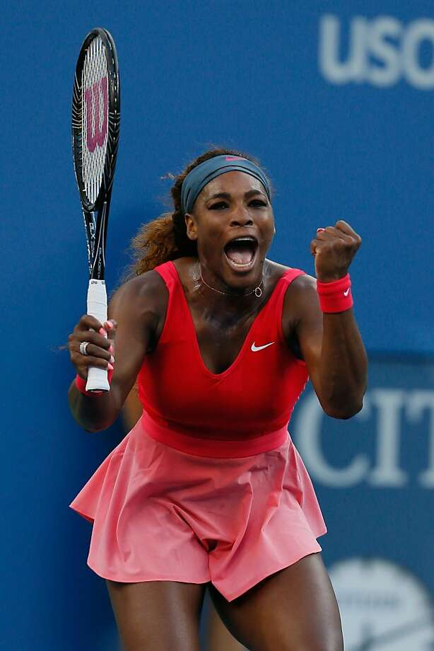Serena Williams is a win away from taking her fifth U.S. Open title and 17th major trophy. Photo: Mike Stobe, Getty Images For The USTA