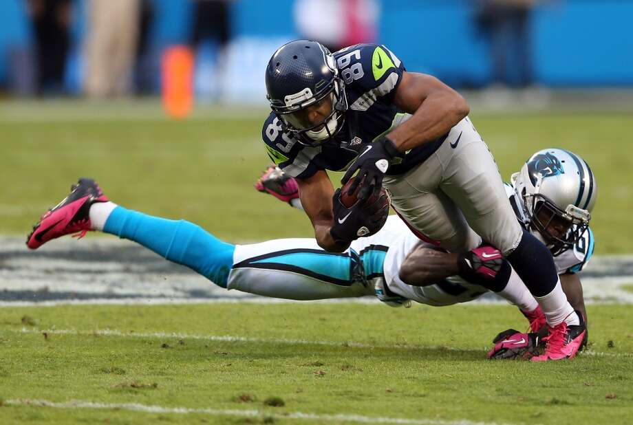 Five things to watch: Seahawks at Panthers (Week 1)Sunday, Sept. 8 | 10 a.m. PDT | Bank of America Stadium, Charlotte, N.C. | TV: FoxCan you stand it? It's almost Sunday, which means it's almost time for the start of Seahawks football -- for real, this time. No more preseason games ... Sunday's matchup with Carolina is the real deal, and from here on out the games all count. It's the beginning of the most anticipated season in Seahawks franchise history.  But the season opener in Charlotte, N.C., will be no cakewalk for the Seahawks. They face a dynamic quarterback, a headstrong running back and one of the most devastating linebacking corps in the league. No wonder head coach Pete Carroll and his staff have been working on their game plan for Carolina for several weeks already.  Click through the gallery for our five biggest keys to Sunday's season opener. Photo: Streeter Lecka, Getty Images