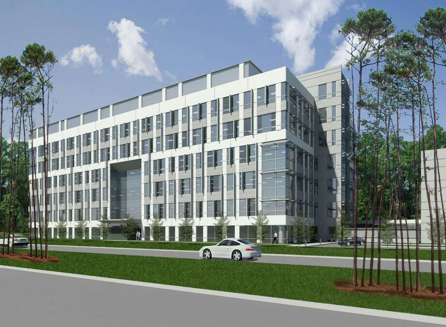 The Sierra Pines II office building at 1585 Sawdust Road in The Woodlands will feature a dining terrace and a Zen garden. Photo: Stream Realty Partners,