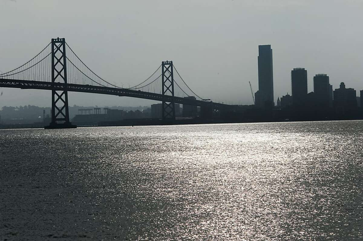 Transportation officials are studying the possibility of a bike and pedestrian path on the west span of the Bay Bridge on Monday, December 12, 2011 in San Francisco, Calif.