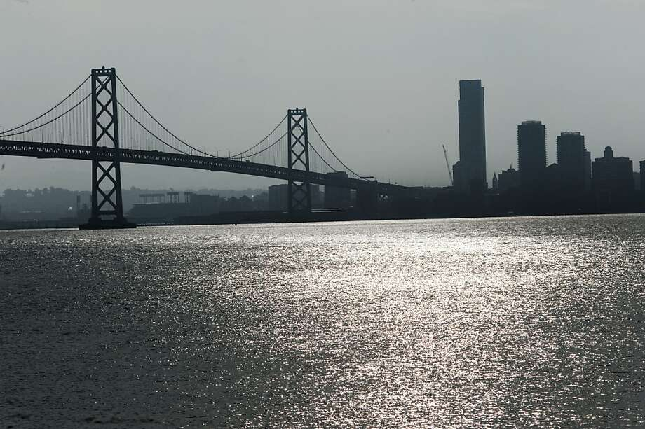 Transportation officials are studying the possibility of a bike and pedestrian path on the west span of the Bay Bridge on Monday, December 12, 2011 in San Francisco, Calif. Photo: Dania Maxwell, Special To The Chronicle