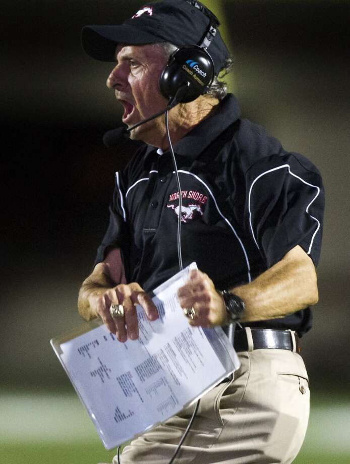 North Shore head coach David Aymond reacts during the second half of a high school football game against Manvel on Friday, Sept. 6, 2013, in Galena Park. ( J. Patric Schneider / For the Chronicle ) Photo: J. Patric Schneider, For The Chronicle