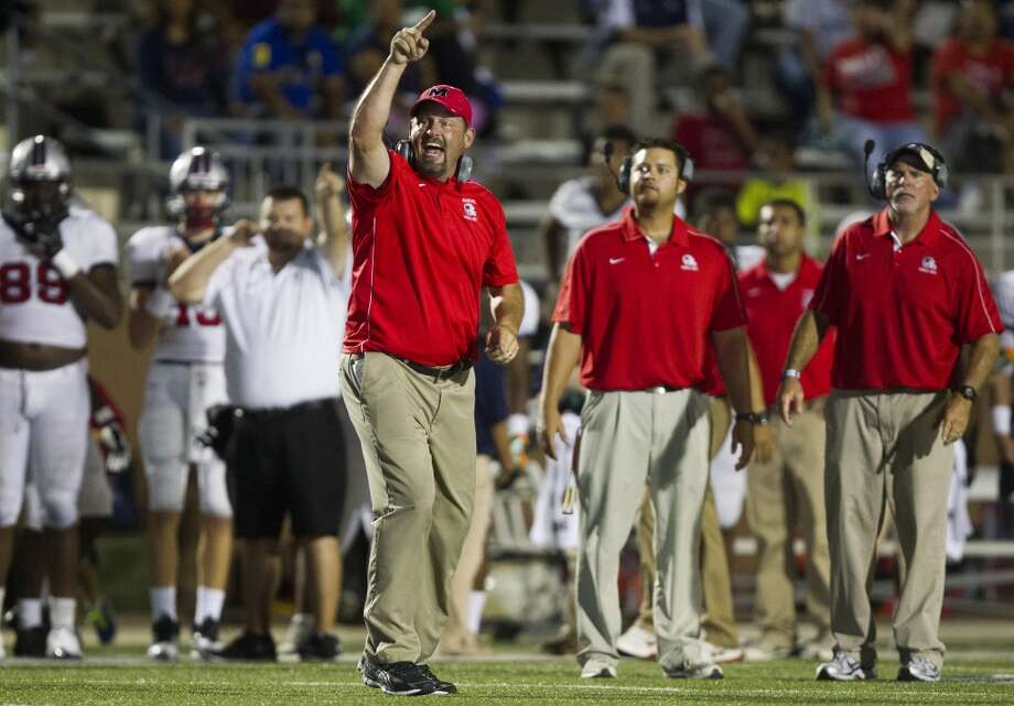 Manvel head coach Kirk Martin reacts during the second half of a high school football game against North Shore on Friday, Sept. 6, 2013, in Galena Park. ( J. Patric Schneider / For the Chronicle ) Photo: J. Patric Schneider, For The Chronicle