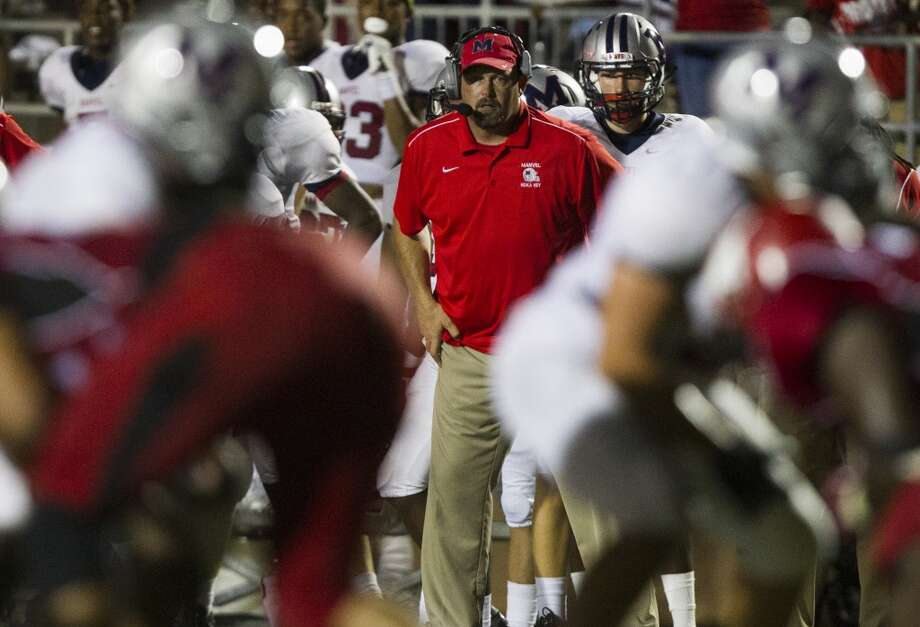 Manvel head coach Kirk Martin watches from the sidelines during the second half of a high school football game against North Shore on Friday, Sept. 6, 2013, in Galena Park. ( J. Patric Schneider / For the Chronicle ) Photo: J. Patric Schneider, For The Chronicle