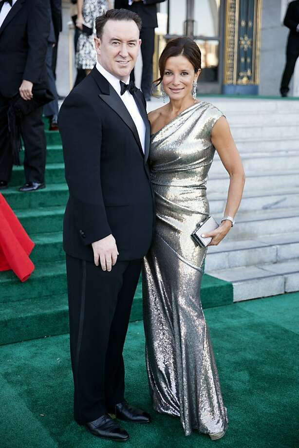 Glen Ross and Claudia Ross (not married) arrive to the 91st San Francisco Season Opening Opera Gala in San Francisco Calif. on Friday, Sept. 6, 2013.  Glen was wearing Armani and Claudia sparkled in a gold Donna Karan. Photo: Alex Washburn, Special To The Chronicle