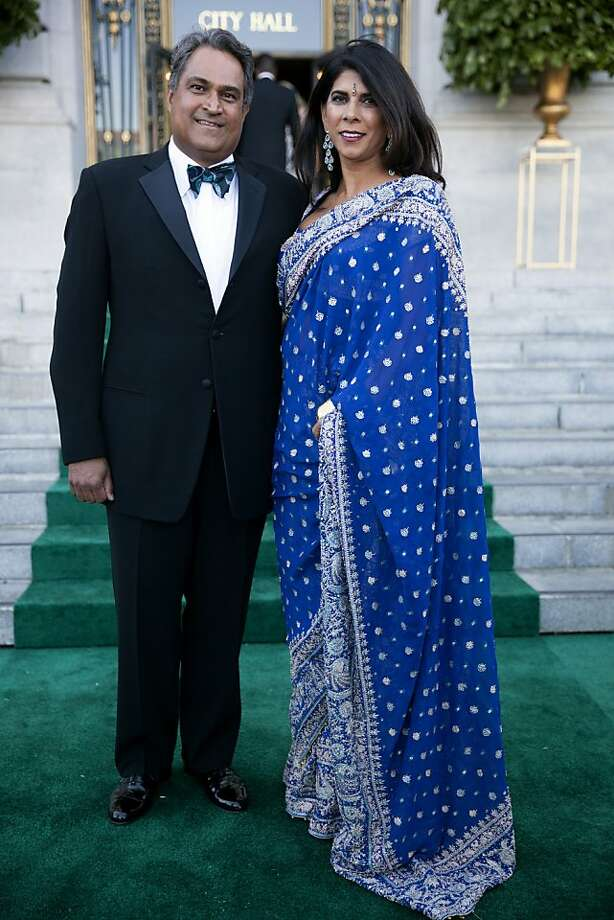 Raj and Sujata Pherwani arrive in style to the 91st San Francisco Season Opening Opera Gala in San Francisco Calif. on Friday, Sept. 6, 2013. The Pherwanis are from Belvedere and were attending the Opera Gala for the first time. Photo: Alex Washburn, Special To The Chronicle