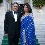 Raj and Sujata Pherwani arrive in style to the 91st San Francisco Season Opening Opera Gala in San Francisco Calif. on Friday, Sept. 6, 2013. The Pherwanis are from Belvedere and were attending the Opera Gala for the first time.