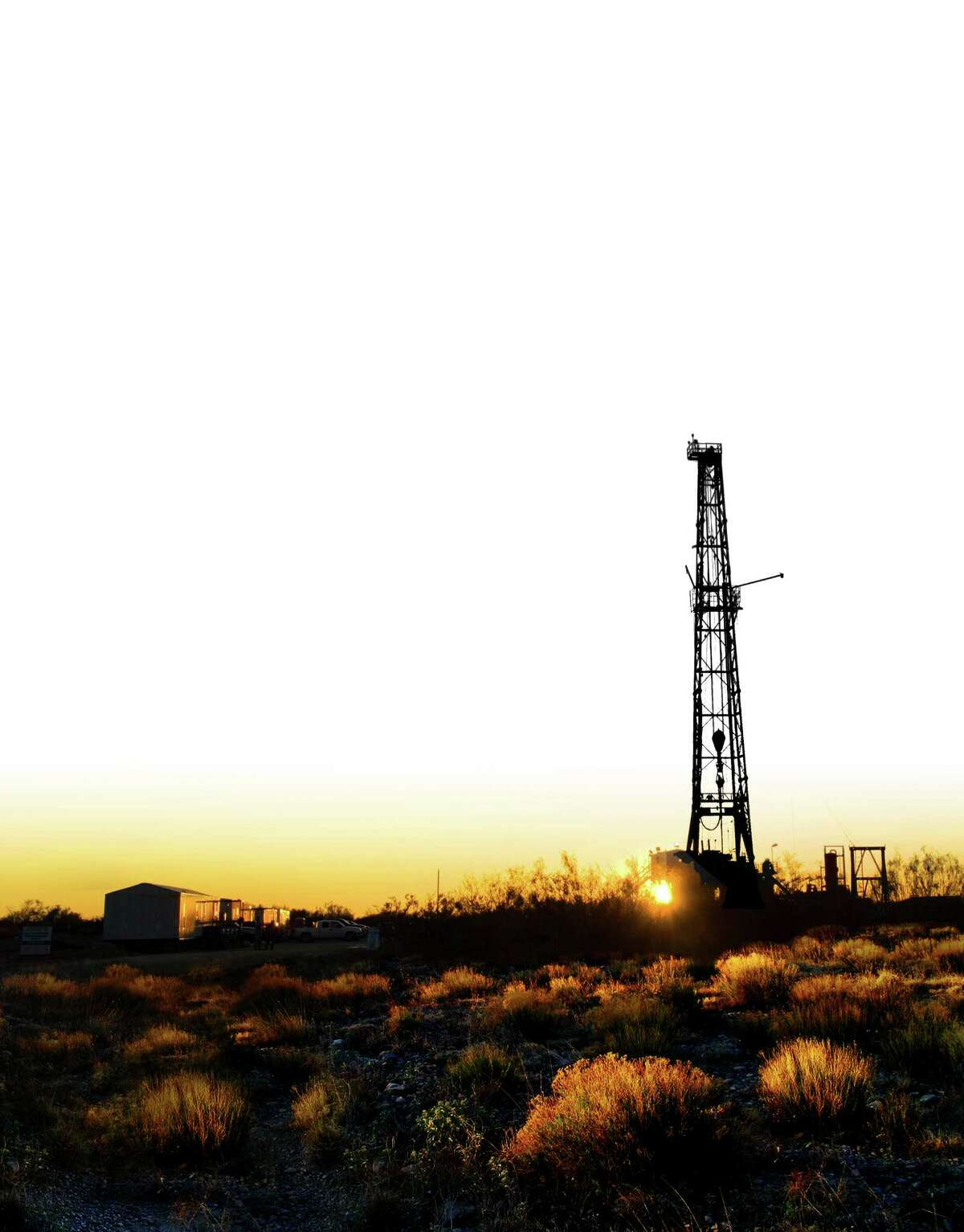 A Sanchez Energy drilling site in Fayette County, in the Eagle Ford Shale.