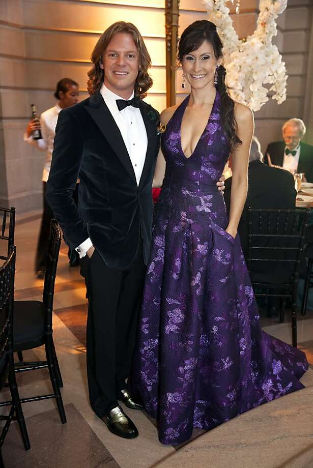 Darren Bechtel and Samantha DuVall pose for a photograph at the 91st San Francisco Season-Opening Opera Gala in San Francisco Calif. on Friday, Sept. 6, 2013. The couple stood out in a bespoke suit and Azadeh gown. Photo: Alex Washburn, Special To The Chronicle