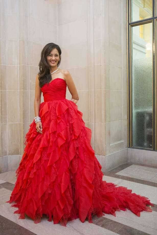 Komal Shah wears a gown by Oscar de la Renta during the 91st Season Opening Night Gala of the San Francisco Opera at War Memorial Opera House in San Francisco, Calif. on Friday, Sept. 6, 2013. Photo: Stephen Lam, Special To The Chronicle