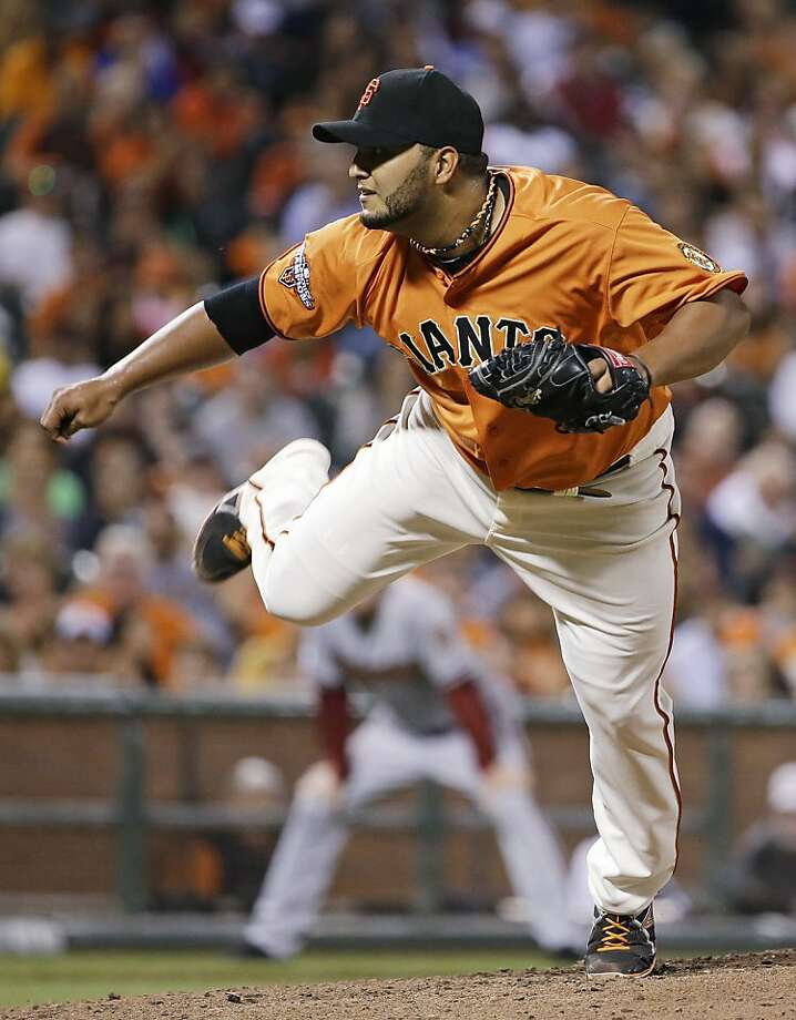Yusmeiro Petit, with three strong starts, has made a case for the Giants to give him a look as a member of the rotation next spring. Photo: Eric Risberg, Associated Press