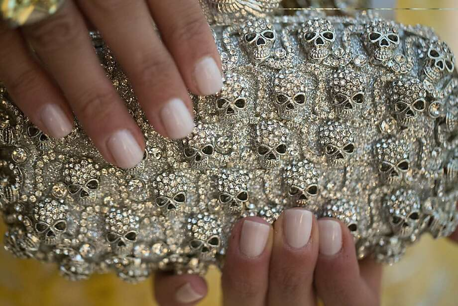 Detail of Libby Leffler's clutch by Azadeh during the 91st Season Opening Night Gala of the San Francisco Opera at City Hall in San Francisco, Calif. on Friday, Sept. 6, 2013. Photo: Stephen Lam, Special To The Chronicle