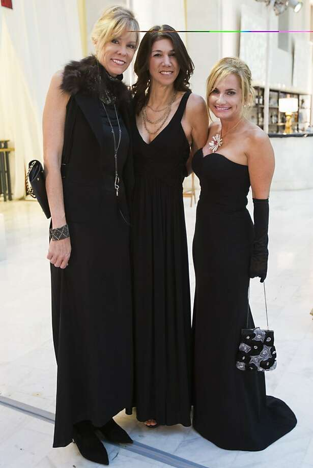 (L-R) Sharyl Montague in a gown by Ann Demeulemeester, Jill Grossman in a gown by BCBG and Robin Laub in a gown by Rock & Republic during the 91st Season Opening Night Gala of the San Francisco Opera at City Hall in San Francisco, Calif. on Friday, Sept. 6, 2013. Photo: Stephen Lam, Special To The Chronicle