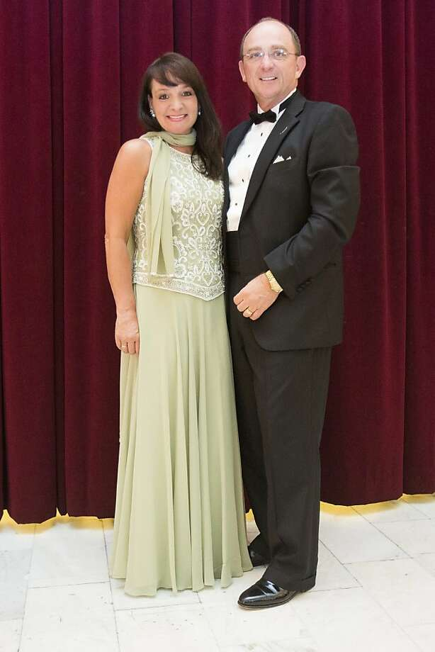 Barbara and Thomas Klein stand for a photograph during the 91st Season Opening Night Gala of the San Francisco Opera at City Hall in San Francisco, Calif. on Friday, Sept. 6, 2013. Photo: Stephen Lam, Special To The Chronicle