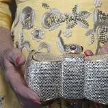 Dede Wilsey carries a Judith Leiber clutch as an accessory to her Oscar de la Renta gown at the 91st San Francisco Season-Opening Opera Gala in San Francisco Calif. on Friday, Sept. 6, 2013.