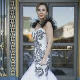 Clara Shayevich in a gown by Vasily Vein at the 91st San Francisco Season-Opening Opera Gala in San Francisco Calif. on Friday, Sept. 6, 2013.