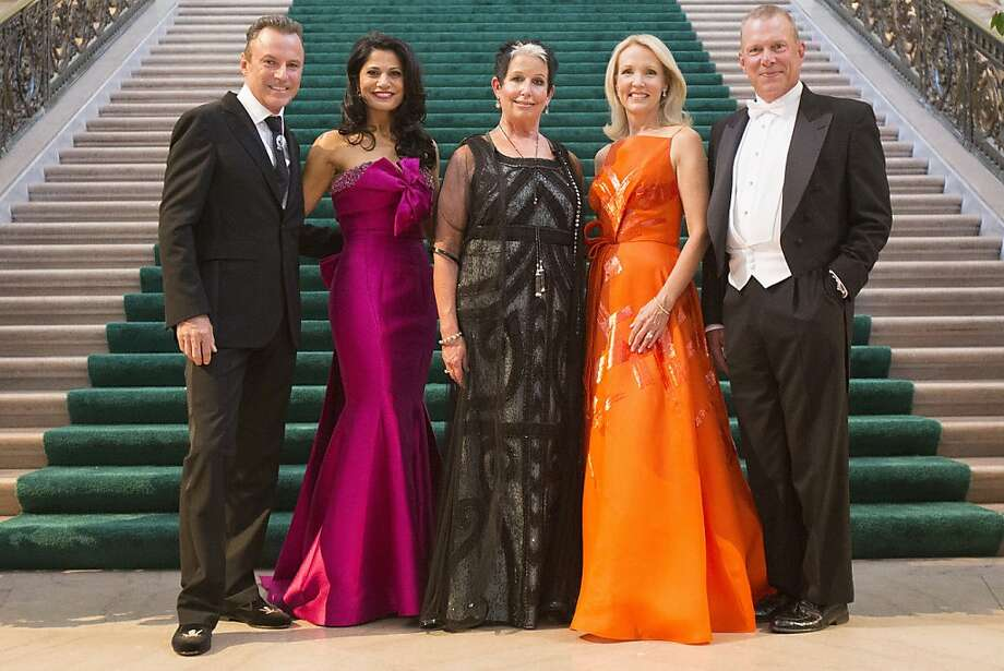 (L-R) Colin Cowie, Mai Shiver, Karen Kubin, Ann Girard, and David Gockley stand for a photograph during the 91st Season Opening Night Gala of the San Francisco Opera at City Hall in San Francisco, Calif. on Friday, Sept. 6, 2013. Photo: Stephen Lam, Special To The Chronicle