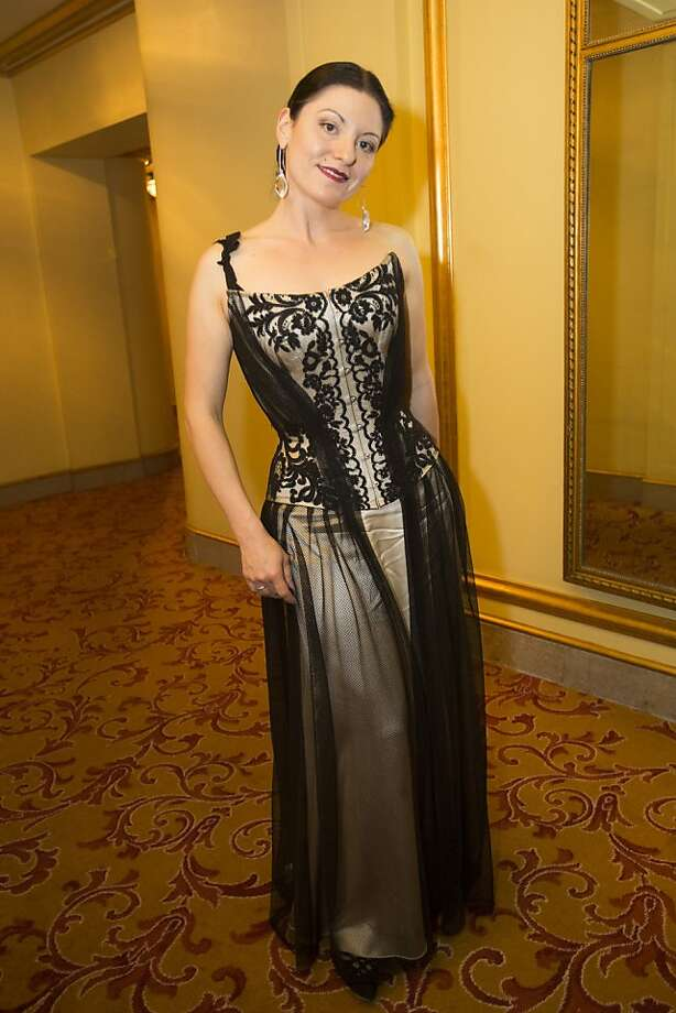 Autumn Adamme wears a gown by her company Dark Garden during the 91st Season Opening Night of the San Francisco Opera at War Memorial Opera House in San Francisco, Calif. on Friday, Sept. 6, 2013. Photo: Stephen Lam, Special To The Chronicle