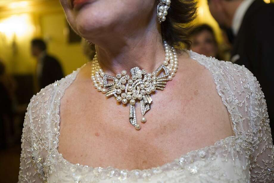 Maria Manetti Shrem wears a necklace by Delfina Delettrez during the 91st Season Opening Night of the San Francisco Opera at War Memorial Opera House in San Francisco, Calif. on Friday, Sept. 6, 2013. Photo: Stephen Lam, Special To The Chronicle