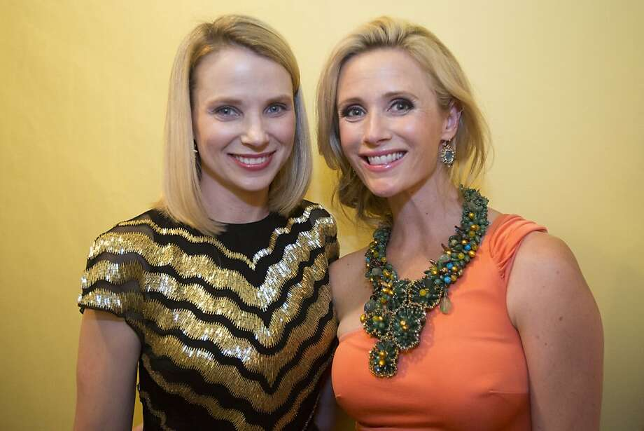 Yahoo! CEO Marissa Mayer, left, and  Jennifer Siebel Newsom stand for a photograph during the 91st Season Opening Night of the San Francisco Opera at War Memorial Opera House in San Francisco, Calif. on Friday, Sept. 6, 2013. Photo: Stephen Lam, Special To The Chronicle